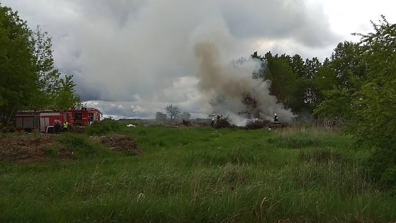 Reduty. Pożar dzikiego wysypiska w gminie Orla