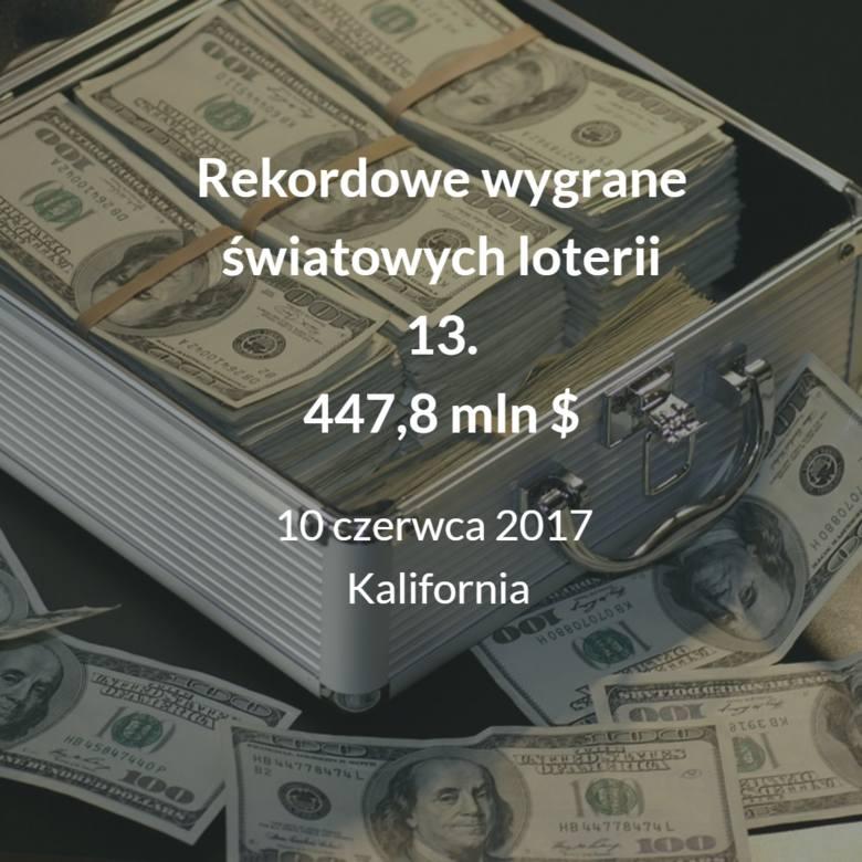 Zobacz zestawienie najwyższych wygranych w loteriach na świecie. Sprawdź, gdzie padła najwyższa wygrana i ile wynosiła?Przejdź do kolejnego slajdu -