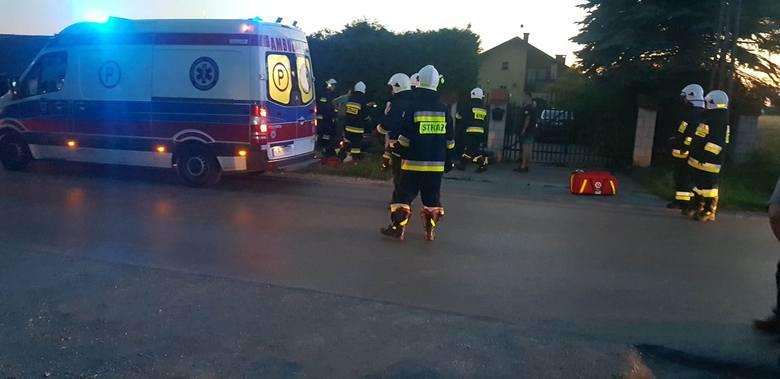 Śmiertelny wypadek motocyklisty w gminie Iwanowice. Droga była zablokowana, bo lądował helikopter