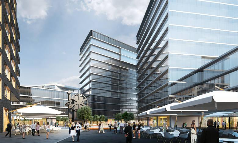 Tak na projekcie prezentuje się nowe osiedle. Budowa Platanowego Parku ma potrwać jeszcze sześć lat.