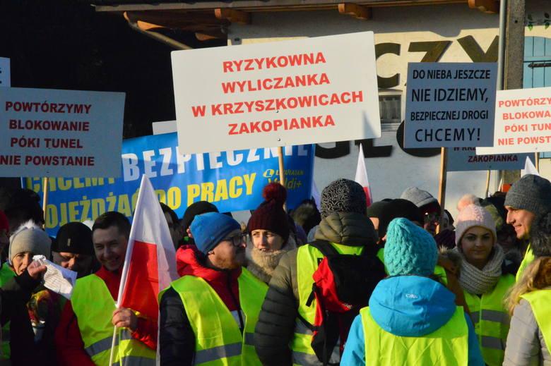 Na początku 2020 roku mieszkańcy Krzyszkowic wyszli na zakopiankę domagając się budowy tunelu pod drogą krajową, a tym samym poprawy bezpieczeństwa pieszych