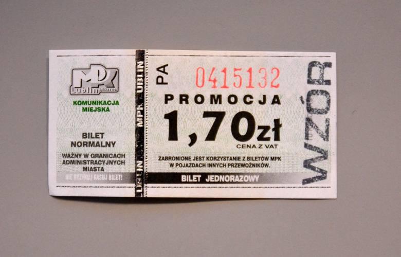 Historyczne bilety ze zbiorów MPK Lublin.