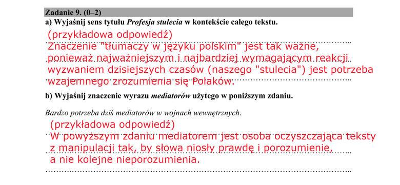 matura polski maj 2021 odpowiedzi