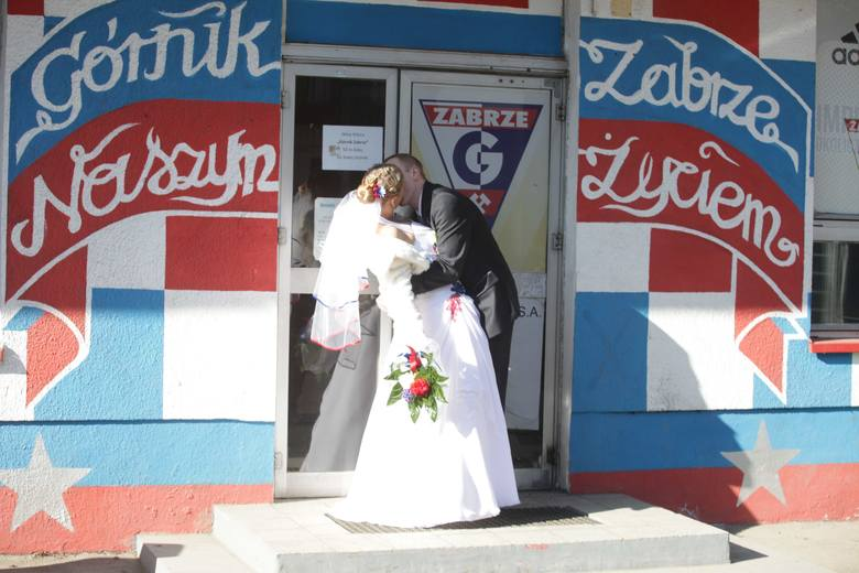 Ślub na stadionie Górnika Zabrze