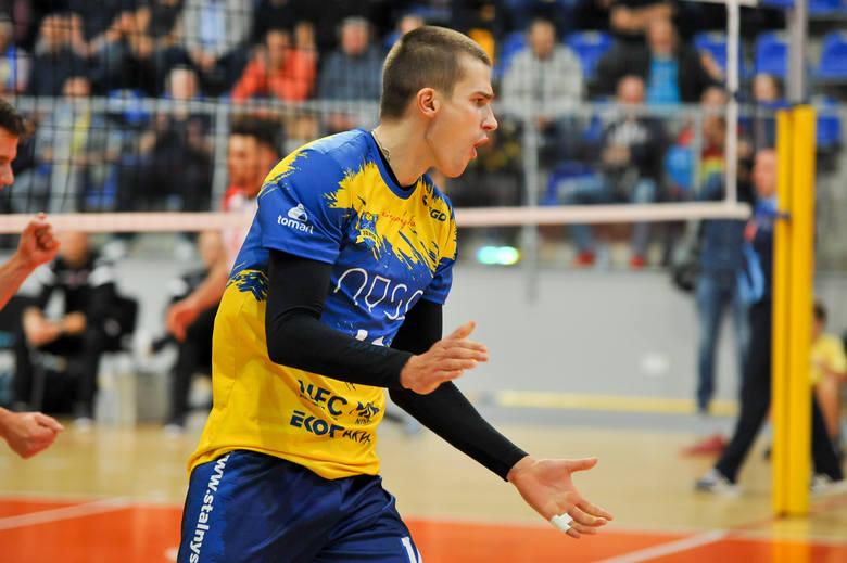 Mateusz Nożewski był jednym z tych, którzy dostali w Bielsku-Białej szansę rozegrania pełnego spotkania.