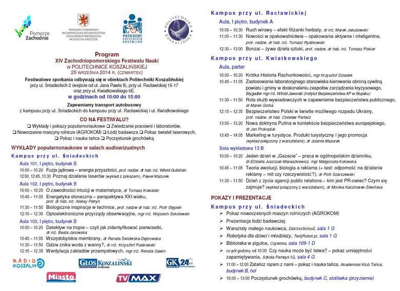 XIV Zachodniopomorski Festiwalu Nauki. Sprawdź program!