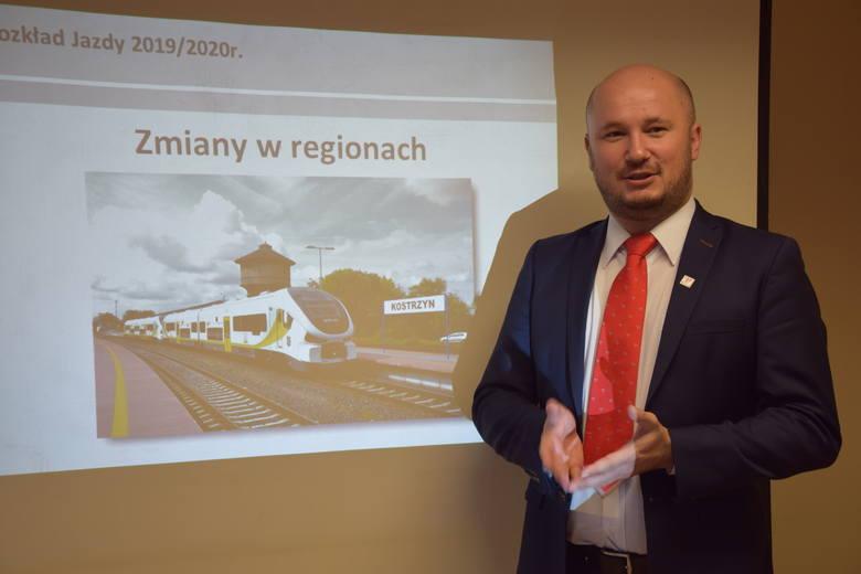 Krzystzof Pawlak - dyrektor lubuskiego oddziału POLREGIO w Zielonej Górze