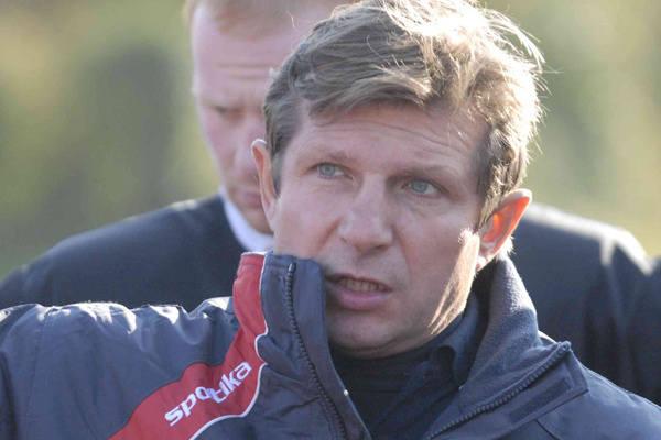 Trener łodzian Mirosław Żórawski