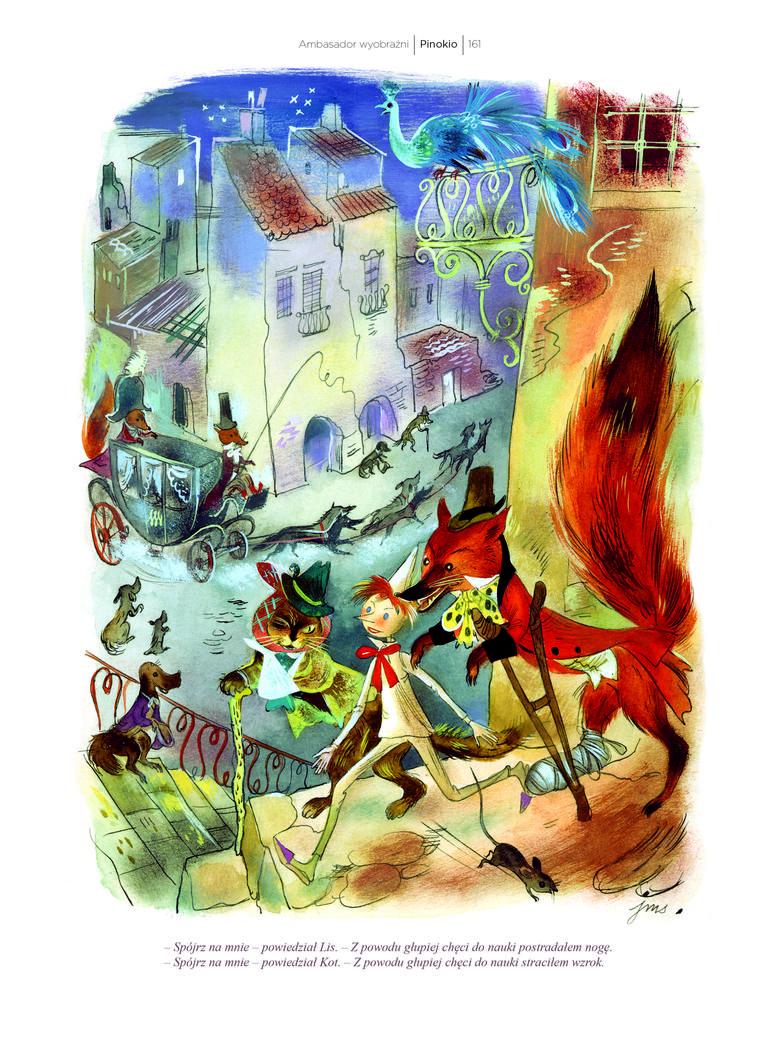 """""""Pinokio"""" to kolejna bajka z ilustracjami Jana M. Szancera<br /> <br />"""