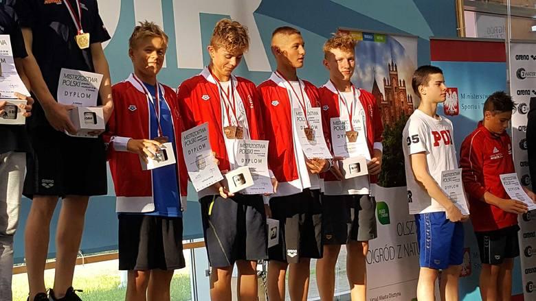 Sztafeta 14-latków na podium w Olsztynie