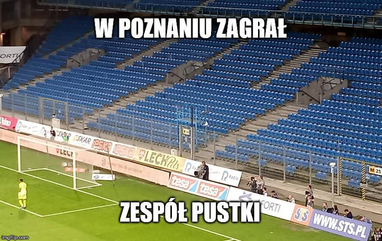 W czwartek Lech Poznań zagrał pierwszy z serii spotkań przy pustych trybunach. To kara za wydarzenia z kończącego sezon starcia z Legią. Mecz bez publiczności wyglądał bardzo osobliwie, co nie umknęło uwadze internautów. Zobaczcie najlepsze memy po spotkaniu Lech - Gandzasar.<br /> <br />...