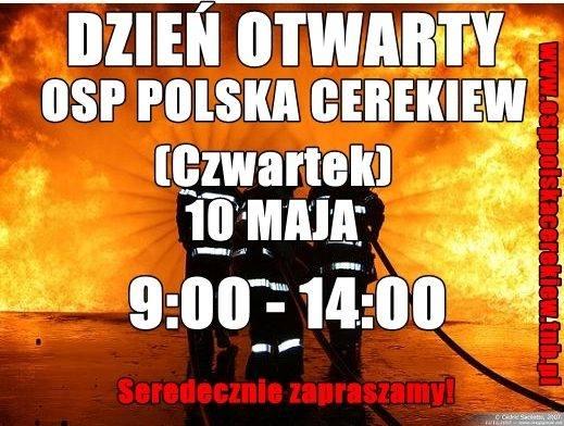 Strażacy z Polskiej Cerekwi zapraszają na dzień otwarty
