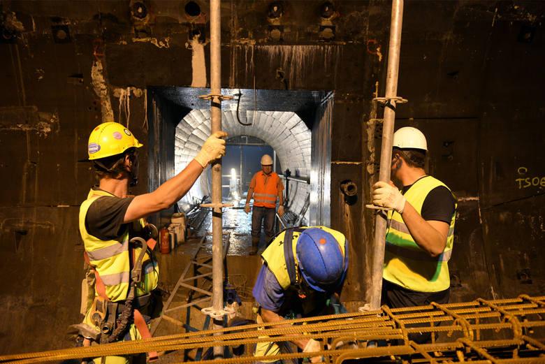 Budowa Tunelu pod Martwą Wisłą (13.08.2015 r.)