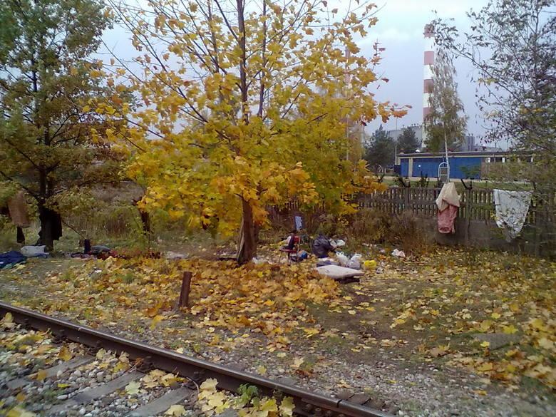 Sfotografował warunki, w jakich nocują białostoccy bezdomni. Miejsce to znajduje się tuż przy samych torach między ulicami Węglową a Poleską.