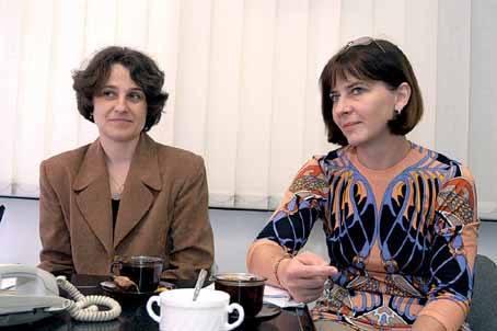 Alicja Szpiech (od lewej) i Beata Kucięba.