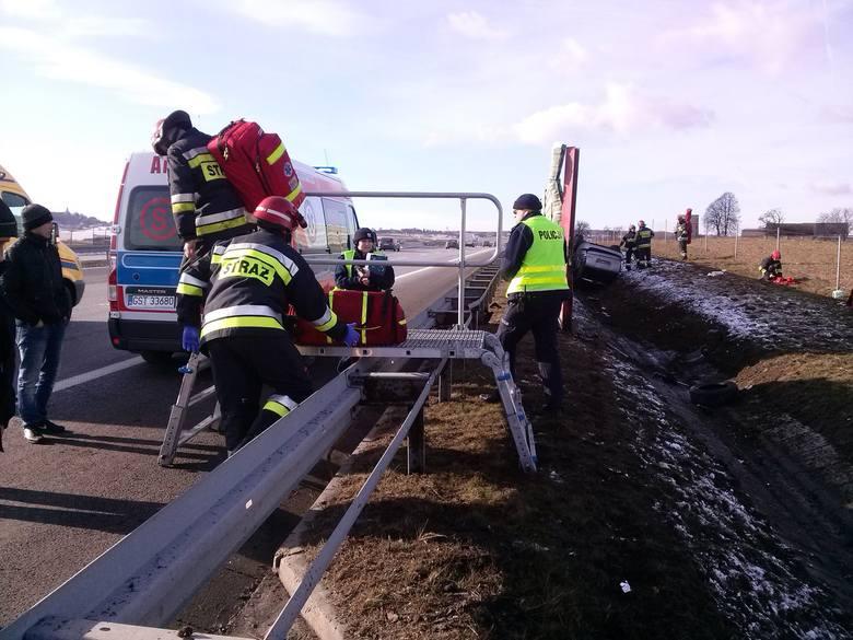 Wypadek na autostradzie A4 na Górze św. Anny