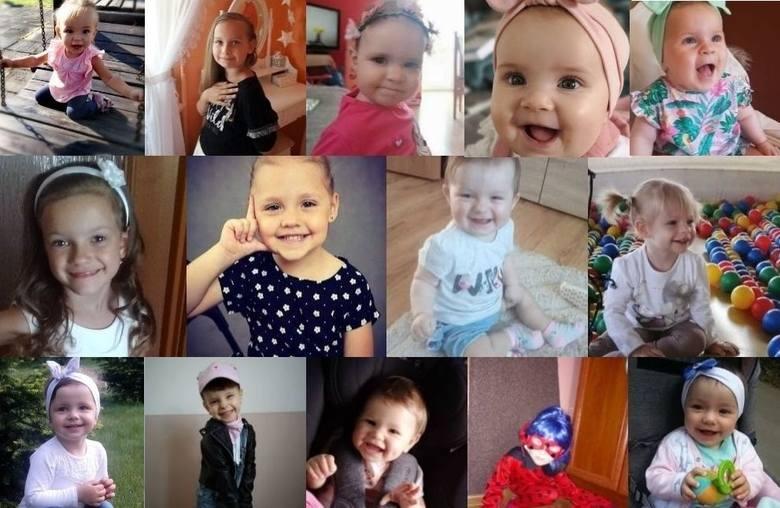 Oto urocze buźki dziewczynek biorących udział w akcji Uśmiech Dziecka, które miały najwięcej głosów w Kielcach i każdym powiecie w piątek, 16 sierpnia