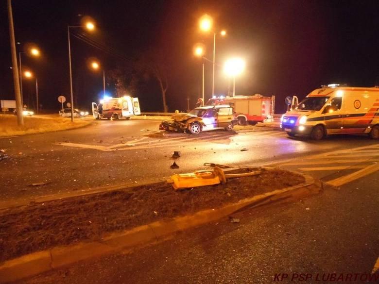 Pięc osób zostało rannych w wyniku zderzenia opla i ciężarówki na obwodnicy Lubartowa
