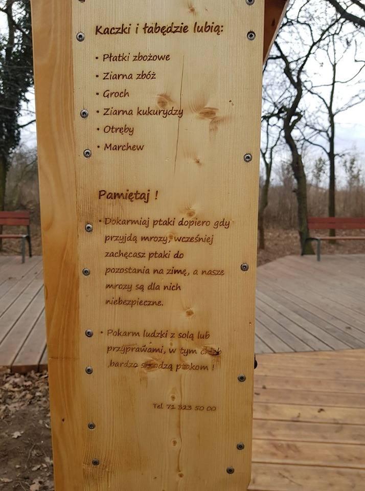 Wrocław: w parku stanął automat na przysmaki dla kaczek