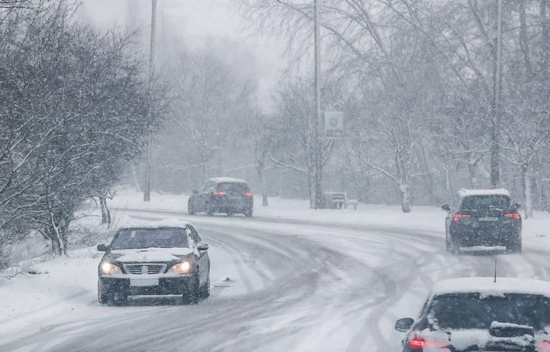 Śnieżyca w Gdańsku w sobotę, 30.01.2021 r.