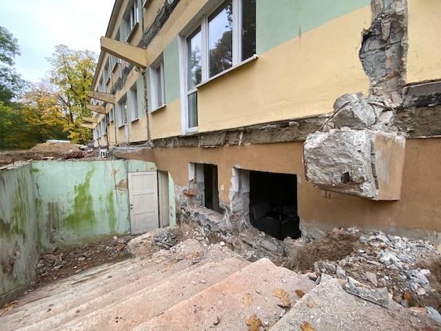 Osada Janaszkowo w trakcie remontu