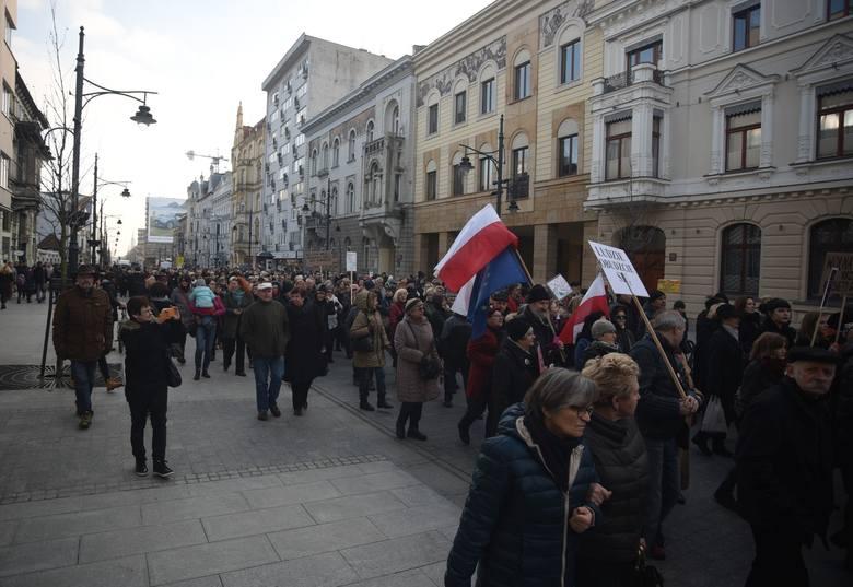 Protest kobiet w Łodzi