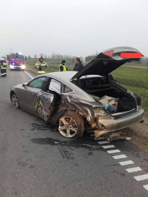Janówka: Wypadek na DK 8. Na trasie Suwałki - Augustów samochód ciężarowy zderzył się z osobówką
