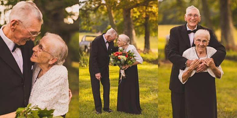 Zakochani staruszkowie świętują 65. rocznicę ślubu