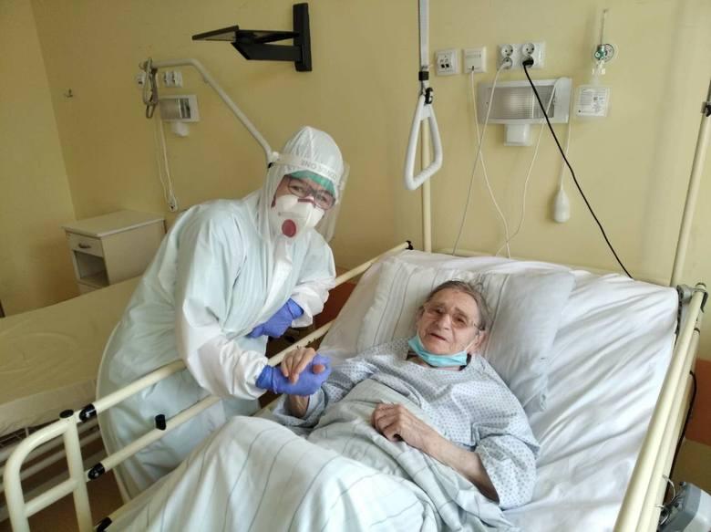 103-letnia Teresa Wójcik w szpitalu monoprofilowym w Kędzierzynie-Koźlu.