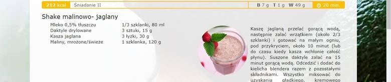 Przykładowe posiłki ze strony www.diety.nfz.gov.pl