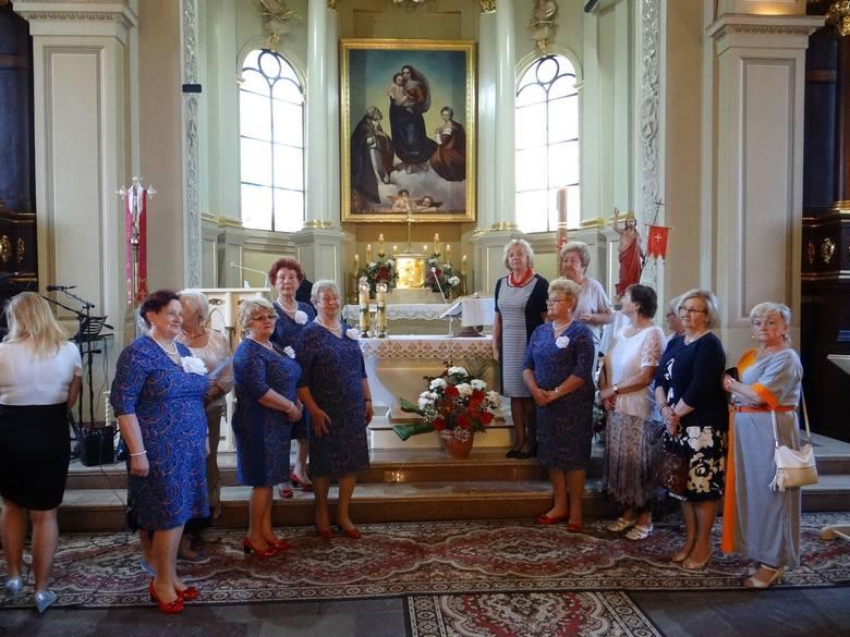 Występ na nabożeństwie w kościele św. Stanisława w Krzemieńcu