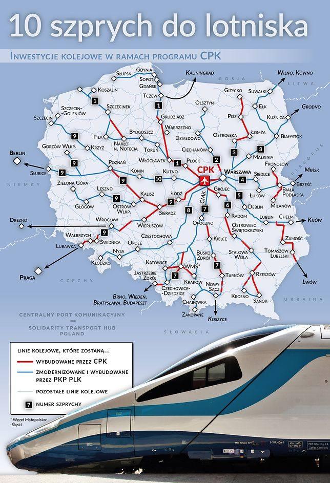 Centralny Port Komunikacyjny: kiedy powstanie? Jak szybko dojedziemy z Torunia na lotnisko? [WIZUALIZACJE]