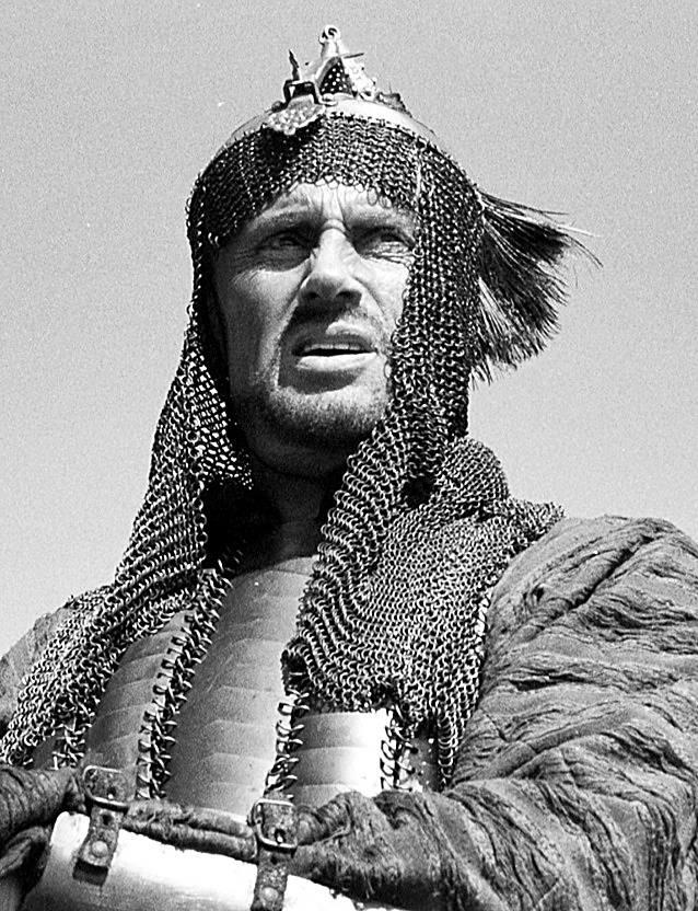 """""""Ogniem i mieczem"""" film historyczny z 1999 roku. Na zdjęciu Daniel Olbrychski."""