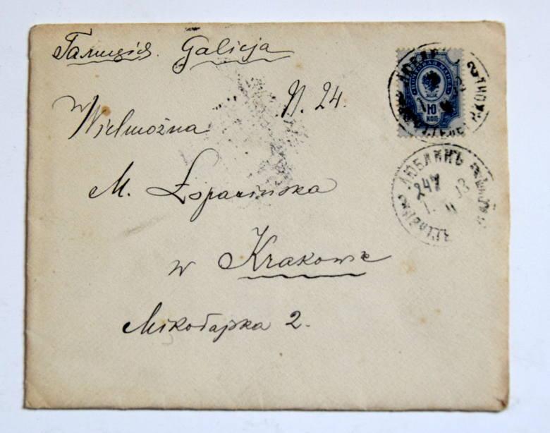 List adresowany do Marii Łopacińskiej, żony Ruperta Jana.