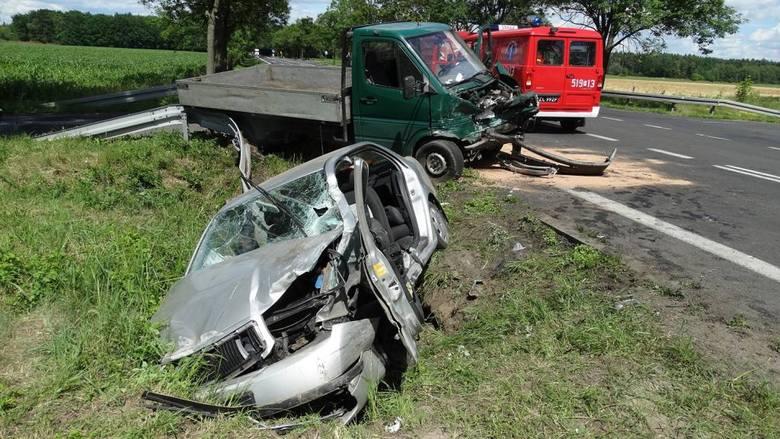 Wypadek na K-92 w gminie Lwówek: Trzy osoby ranne