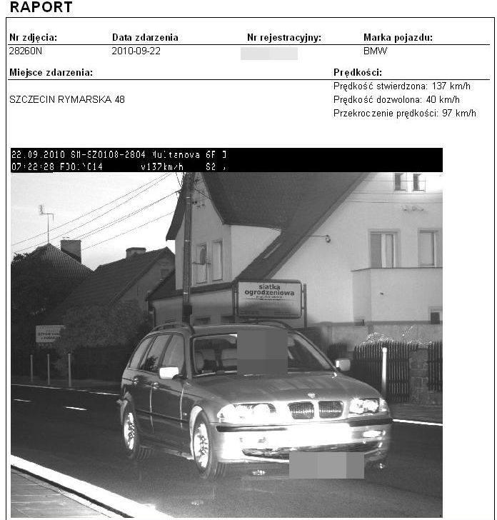 Samochód przyłapany na ul. Rymarskiej.