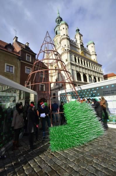 Zielone, ośmiometrowe drzewko jak co roku stanie na Starym Rynku. Tylko trochę inne. Prezydent miasta Ryszard Grobelny wraz z fundacją Allegro All For