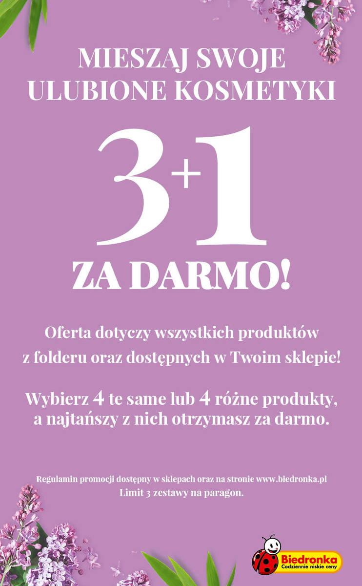 """Promocja kosmetyków w Biedronce. Akcja """"3+1 za darmo!"""""""