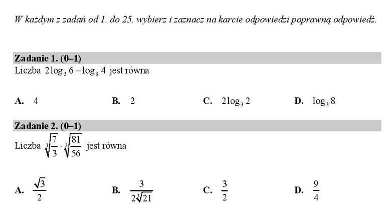 matura 2021 matematyka odpowiedzi zadania otwarte