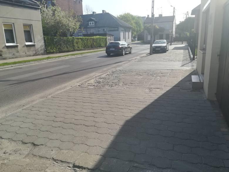 W wakacje chodniki w kilku miejscach w Pabianicach będą rozkopane, gdzie?