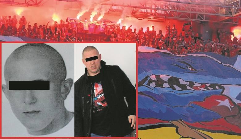 """25-letni Krzysztof M. ps. """"Młody Misiek"""" lub """"Szkodnik"""" (z lewej) oraz jego starszy brat, 38-letni Paweł M. ps. """"Misiek"""" ( z prawej)"""