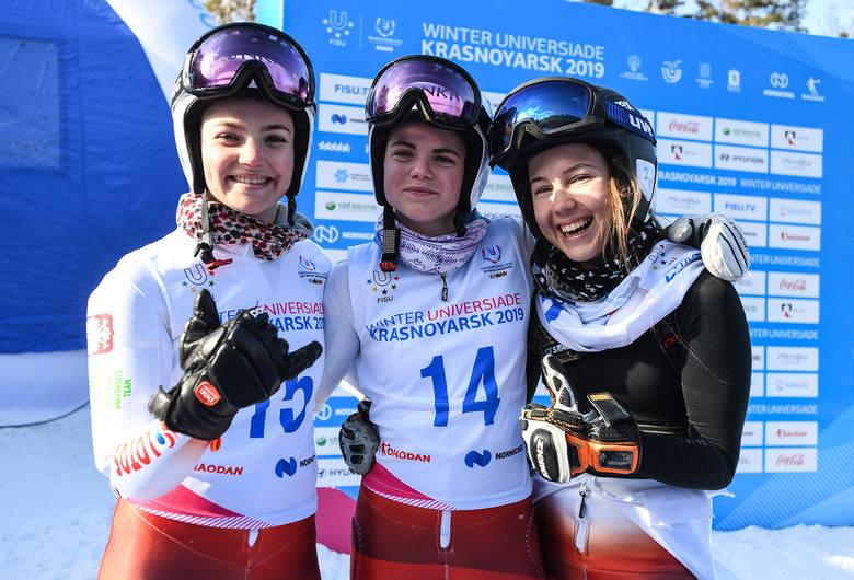 Zuzanna Czapska, Zofia Zdort i Katarzyna Wąsek rywalizowały na trasie slalomu giganta