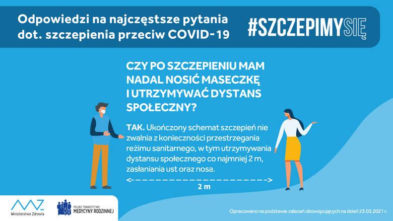 Szczepienie na COVID-19 nie zwalnia z noszenia maseczki – 5 powodów, dla których ochrona ust i nosa wciąż jest konieczna