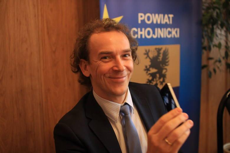 Wicestarosta Marek Szczepański mówił o inwestycjach, które będą realizowane w Czersku we współpracy z Urzędem Miejskim.