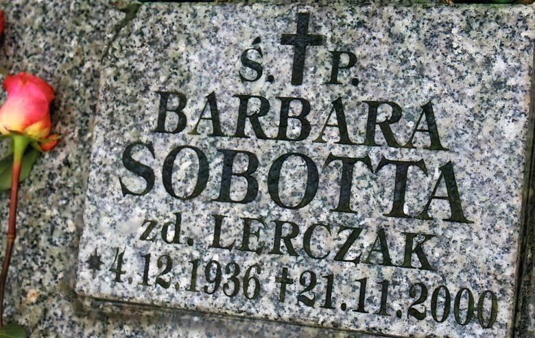 Barbara Janiszewska-Sobotta została pochowana na cmentarzu na Junikowie w Poznaniu