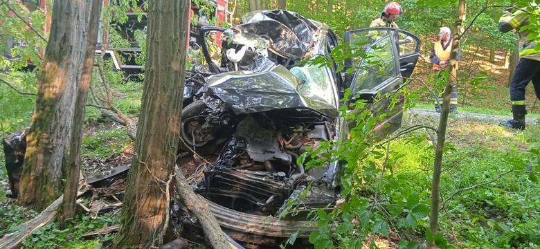 Do wypadku doszło we wtorek 8 czerwca przed godz. 18.00. - do Stanowiska Kierowania Komendanta Powiatowego wpłynęło zgłoszenie dotyczące wypadku samochodu