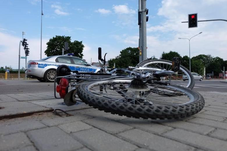 Ul. Pogodna. Wypadek rowerzysty (zdjęcia, wideo)