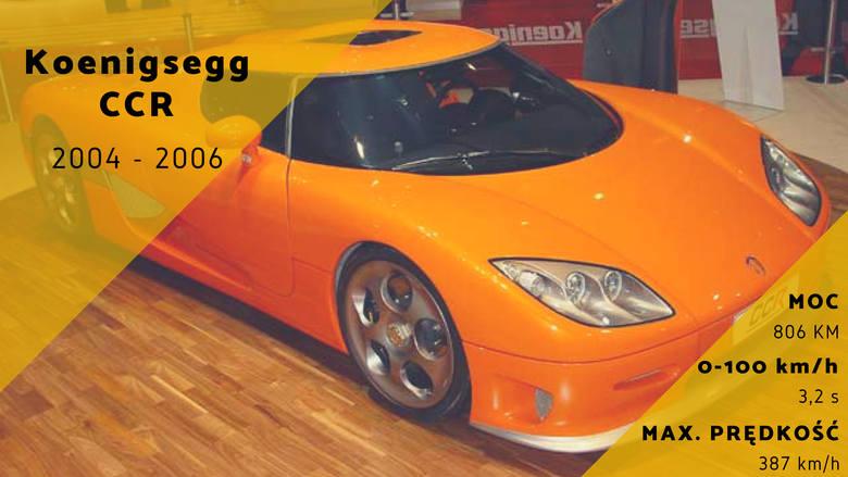 Szwedzki Koenigsegg CCR ma już swoje lata, ale rozwijając prędkość maksymalną do 387 km/h nadal pozostaje jednym z najszybszych samochodów świata.