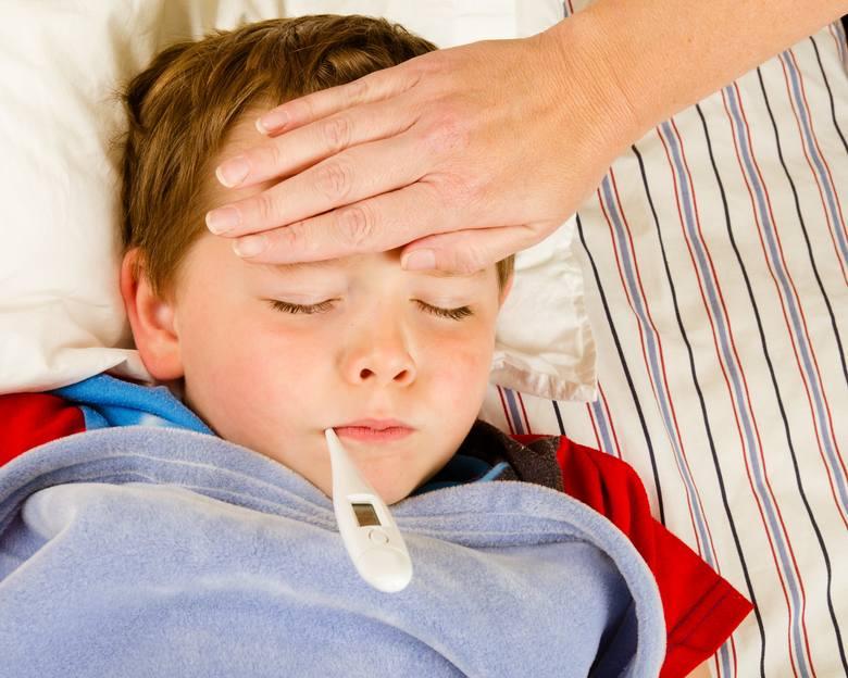 GORĄCZKAGrypa: Wysoka gorączka (do 39 stopni C), dreszczePrzeziębienie: Stan podgorączkowy, najczęściej poniżej 38 stopni