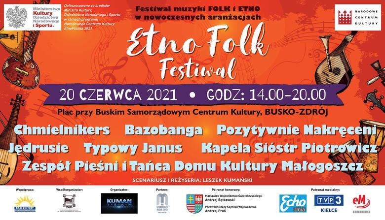Etno Folk Festiwal w Busku już w niedzielę, 20 czerwca. Będzie się działo!